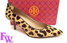 New TORY BURCH Size 8.5 ELIZABETH Leopard Print Heels Pumps Shoes 8 1/2 w/ Bag