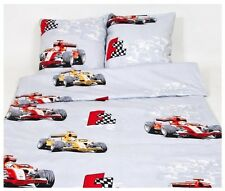 * 50% OFF SALE * Sport Car FORMULA Single Duvet Cover Set, Bedding 100% Cotton