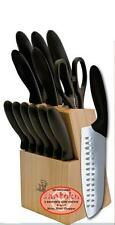 MasterChef 13pc EVERSHARP 2-Santoku Knife Cutlery Set Block & Steak Knives KM132