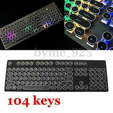 104pcs KeysCap Backlit Steampunk Plated Keycap for Cherry MX Mechanical Keyboard