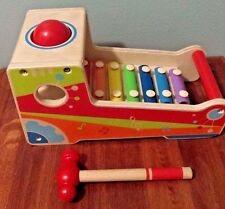 Baby/Toddler Wooden Xylophone Hape Pound & Tap Musical Toy EUC RARE
