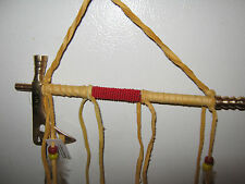 """AUTHENTIC NATIVE AMERICAN TOMAHAWK PEACE PIPE By NAVAJO ARTIST D YAZZIE-8 1/8"""""""