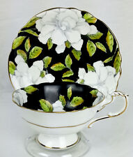 Vintage Paragon Hand Painted Tea Cup and Saucer - White Gardenias  - England