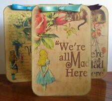 Alice in Wonderland tea party mad hatter 6 tent cards favor table decoration