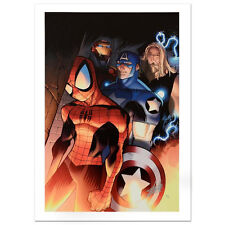 STAN LEE signed AVENGERS Marvel ORIGINAL COMIC Artworks CANVAS COA SPIDER-MAN