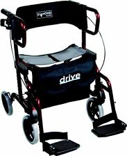 Diamond Deluxe 4 Wheel Walker Rollator Mobility Walking Frame Wheelchair Chair