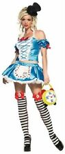 LEG AVENUE Fantasy Alice in Wonderland Off Shoulder Top Rabbit Apron Mini Skirt