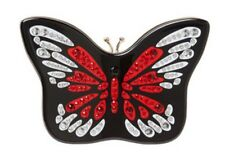 NWT Kate Spade Wing It Small Embellished Butterfly Clutch Bag Black NEW $348