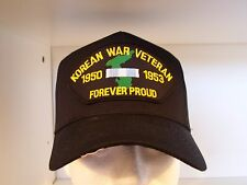 #1507 KOREAN WAR VETERAN Ballcap Cap Hat, BLACK
