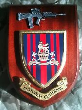 Military Provost Guard Service Wall Plaque+ Pewter SA80