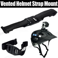 Vented Helmet Strap Mount Adapter For Gopro Go Pro HD Hero 4 3+ 3 2 Camera Sport