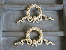 TWO   DECORATIVE  FRENCH COUNTRY STYLE LAUREL BOW FURNITURE/ FIREPLACE MOULDINGS