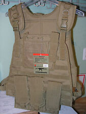 Fox Outdoor Modular Plate Carrier Vest Coyote Military Swat Survival Tactical