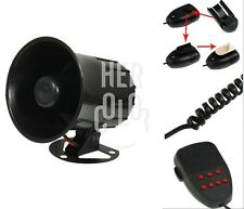 12V 50W Loud Megaphone Siren Horn PA for Car Van Truck Motorcycle with 7 Sounds