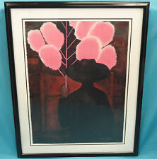 SIGNED & NUMBERED GUSTAVO MONTOYA LITHOGRAPH Hombre con Algodon de Azucar 79/100