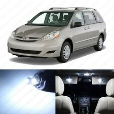 13 x Xenon White LED Interior Lights Package For 2004 - 2010 Toyota Sienna
