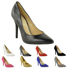 WOMENS LADIES MID HIGH HEEL BRIDAL WEDDING PARTY PROM DIAMANTE COURT SHOES SIZE