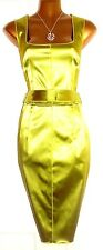 Beautiful DOLCE & GABBANA D&G Mainline Lime Satin Pencil Dress 40 UK 8 10 US 4 6