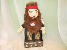 """NEW A&E DUCK DYNASTY COMMANDER WILLIE ROBERTSON TALKING PLUSH DOLL 13"""""""