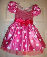 DISNEY/COLLECTION~girl's~MINNIE/MOUSE/SEQUIN/DOTS/FRILLY/DRESS! (4) N/W/TAGS! @@