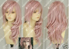 Hot Sell! Final Fantasy Lightning Srah New Long Mix Pink Cosplay Wig++