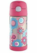 Thermos 355 ml Floral Funtainer Hydration Bottle Pink with Straw 186391