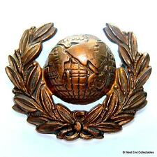 Genuine: The Royal Marines Commandos - British Army Navy Brass Collar Badge