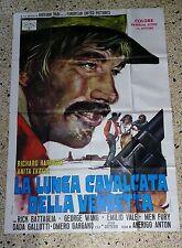 Y4 MANIFESTO ORIGINALE 4F LA LUNGA CAVALCATA DELLA VENDETTA RICHARD HARRISON