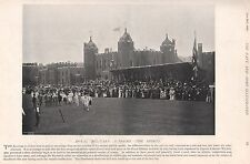 1896 MILITARY PRINT : ROYAL MILITARY ACADEMY THE SPORTS