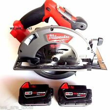 NEW N BOX Milwaukee 2731-20 18V 7 1/4 Circular Saw,2) 48-11-1850 5.0 Battery M18