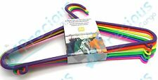 BUY 3 GET 1 FREE CHILDRENS CLOTHES HANGERS x 6 PC CLOTH HANG KID CHILD WARDROBE