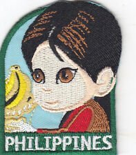 """""""PHILIPPINES"""" PATCH - NATIONS, COUNTRIES-REGIONS-Iron On Embroidered  Patch"""