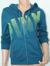 VICTORIA'S SECRET Pink Fleece Perfect Full Zip Hoodie Large NWT Color Teal