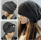 Unisex Women Mens Knit Baggy Beanie Beret Hat Winter Warm Oversized Ski Cap