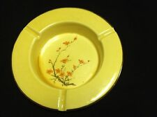 VINTAGE YELLOW PORCELAIN HANDPAINTED ASHTRAY-MADE IN U.S.A.SALE PRICE