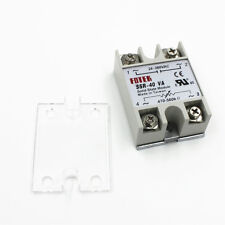 SSR-40VA AC 24-380V 40A Solid State Relay for PID Temperature with Safety Cover