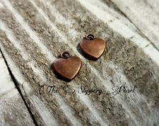 Heart Charms Pendants-Alice in Wonderland Charms Antique Copper Heart Charm 20pc