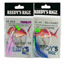 10 Snapper snatchers rigs 5/0 Mixed Rig 60lb Bottom Fishing Lure Jig Bait Tackle