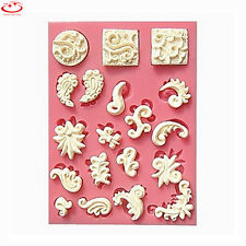 3D European Flower Lace Silicone Fondant Mold Cake Decorating Baking Tool Mould