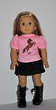 DOLL CLOTHES CUSTOM MADE FOR AMERICAN GIRL DOLL  -PAINTED HORSE - SKIRT SET