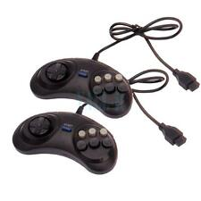 Lot2 New 6 Button Game Controller Pad for SEGA Genesis Game Controller Black