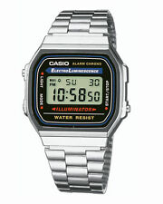 Casio Classic Retro Unisex Digital Stainless Steel Alarm Watch A168WA-1YES *New