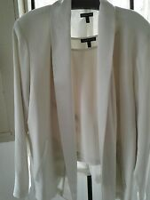 Eileen Fisher ivory tank and jacket l evening 100% silk.