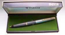 """PARKER """" 45 """" STANDARD DE LUXE ; in GRAY/STEEL/GOLD 14Kt NIB ! MADE IN U.S.A. !"""