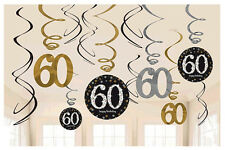 60th Birthday Swirl Decorations ~ Sparkling Celebration Party Supplies, Sixtieth
