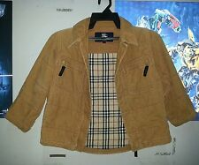 "Burberrys Boys Jacket Coat Sz 120A Blazer zipper Brown Khaki Corduroy(16""/21"")"
