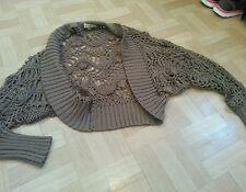 Ladies Brown Kookai Crop Cardigan Size 2 10-12
