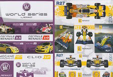 Renault R27 Sticker Collection Fisichella, Kovalainen World Renault Series.