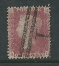 PENNY RED Plate 153 BG WATERMARK ERROR CROWN TOP+BOTTOM