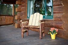 Rustic Outdoor Chairs Log Patio Chair Amish Made Cabin Deck Furniture